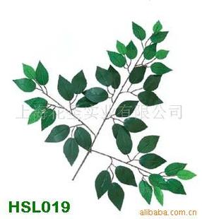 批发供应仿真榕树叶 人造植物图片