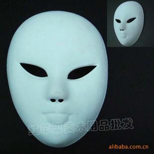 植绒全脸手绘面具 恐怖面具 舞会面具 万圣节用品