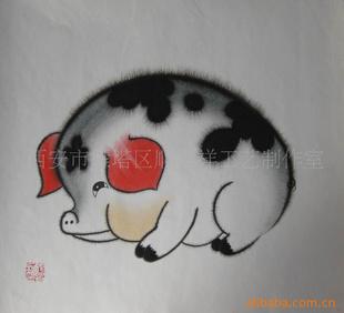 十二生肖属相画 猪 铅笔画