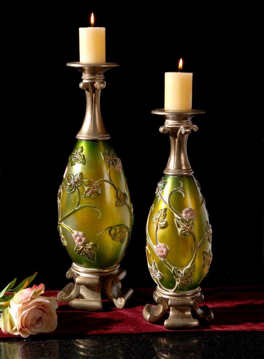 米兰诺欧式家居饰品|欧式新古典透明树脂烛台摆件