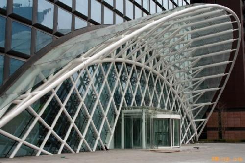雨棚大连雨棚大连玻璃雨棚大连钢结构雨棚车库入口采光顶