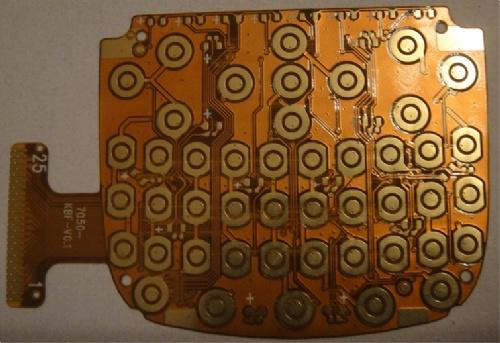 手机按键fpc柔性线路板,智能机软性电路板