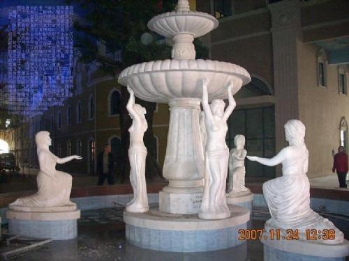喷泉手绘三视图效