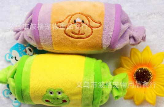 宠物玩具 可爱糖果宠物玩具 狗狗毛绒发声宠物玩具 小孩玩具