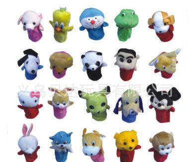 动物手偶,表演手指偶,儿童玩具幼儿智力玩具卡通手偶娃娃bd