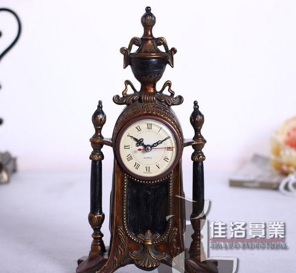 狮子欧式仿古座钟 美式复古客厅静音时钟台钟表装饰钟