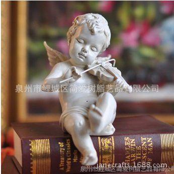 欧式奢华时尚家居酒柜装饰品客厅摆件创意树脂天使娃娃酒柜工艺品