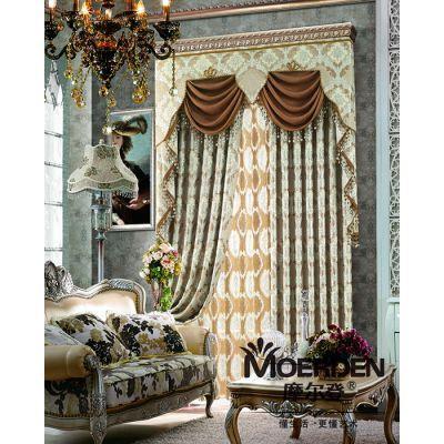 定做别墅楼梯间窗帘 欧式卧室窗帘布艺品牌加盟