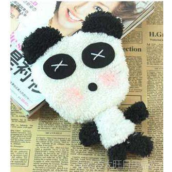 韩国超萌可爱熊猫 手机收纳零钱包 带拉链钱包w20g