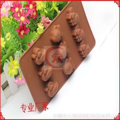 批发手工皂diy模具 硅胶动物食品级手工皂模具 巧克力