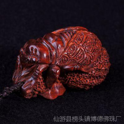 大德 木制工艺品挂件 印度小叶紫檀名利双收手把件 文玩收藏礼品
