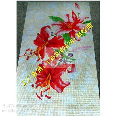 【背景墙拼花】广西梧州市水晶冰玉陶瓷马赛克拼图厂家-风景画拼图