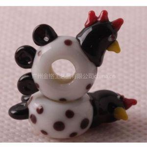 16mm动物琉璃珠 动物饰品珠子