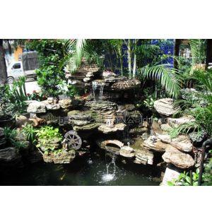 供应深圳假山鱼池,水幕墙装饰设计施工