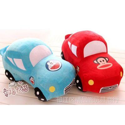 批发卡通创意汽车毛绒玩具 跑车公仔模型 儿童节礼物