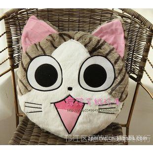 毛绒玩具正版超萌可爱起司猫甜甜猫私房猫毛绒抱枕靠垫腰枕午睡枕