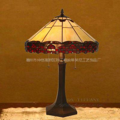 供应蒂凡尼灯饰 欧式简约台灯 16寸客厅灯 卧室灯 巴洛克风格 古典灯